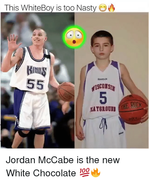 Basketball, Be Like, and Nasty: This WhiteBoy is too Nasty  Reebok  ATGROUND Jordan McCabe is the new White Chocolate 💯🔥