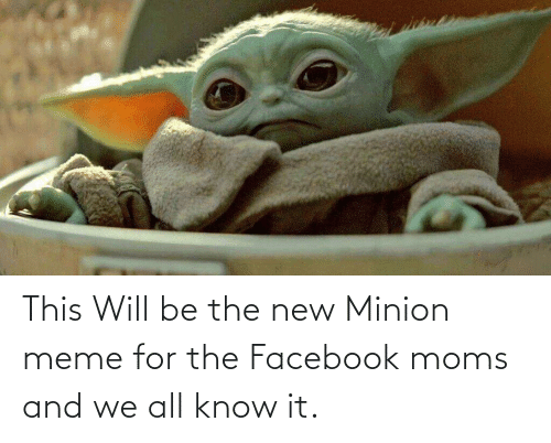 Facebook, Funny, and Meme: This Will be the new Minion meme for the Facebook moms and we all know it.