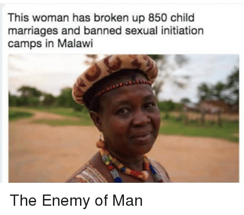 women and sexual initiation The sex initiation camps of malawi where ten-year-old girls are sent by their families to lose their virginities girls are told by families they are attending a camp with their friends.