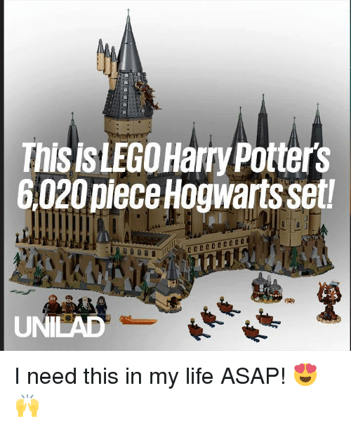 Dank, Life, and 🤖: Thisis LEGOHarry Potters  6,020piece Hogwarts set  UNILAD I need this in my life ASAP! 😍🙌