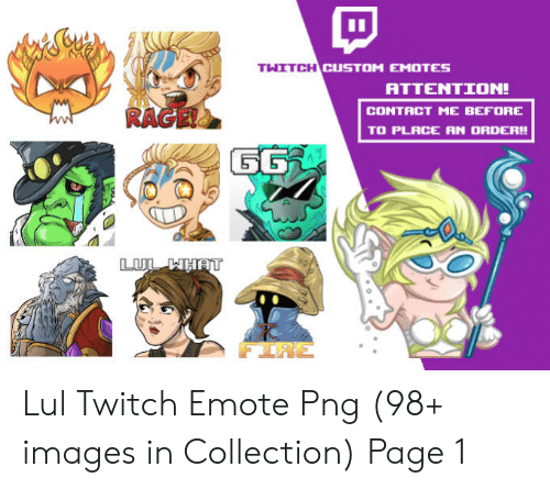 THITCHIC CUSTOM EMOTES ATTENTION! CONTACT ME BEFORE TO PLACE AN