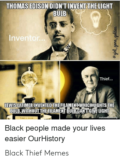 lewis latimer light bulb meme
