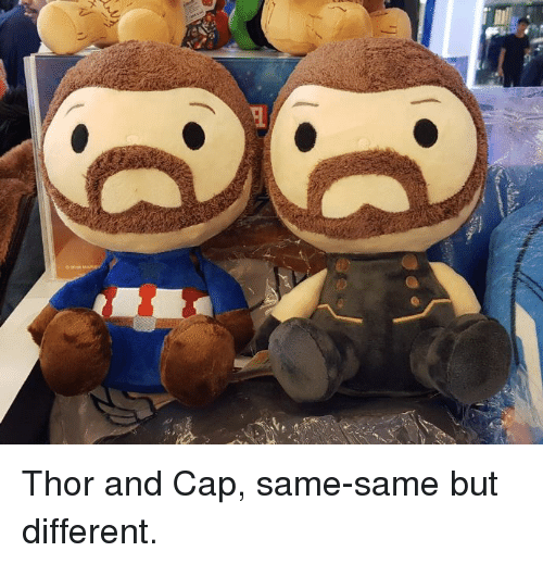 Dank, Thor, and 🤖: Thor and Cap, same-same but different.