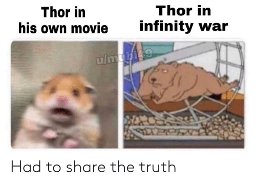 Infinity, Movie, and Thor: Thor in  his own movie  Thor in  infinity war Had to share the truth