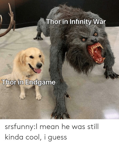 Thor in Infinity War Thor in Endgame srsfunnyI Mean He Was Still