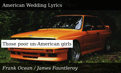 Frank Ocean American Wedding.Those Poor Un American Girls Donald Trump Meme On Me Me