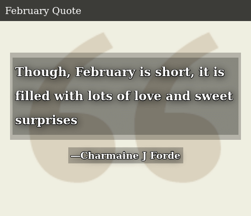 SIZZLE: Though, February is short, it is filled with lots of love and sweet surprises