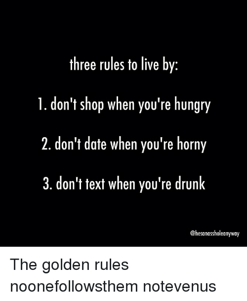 Rules of dating meme