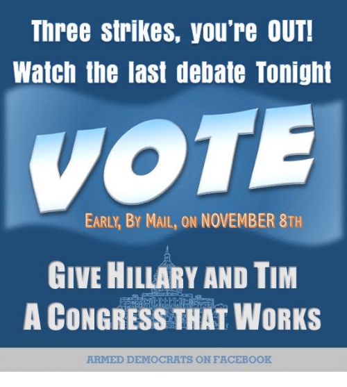 23066f181b4 Three Strikes You're OUT! Watch the Last Debate Tonight EARLY BY ...