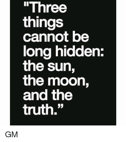 The Sun The Moon And The Truth