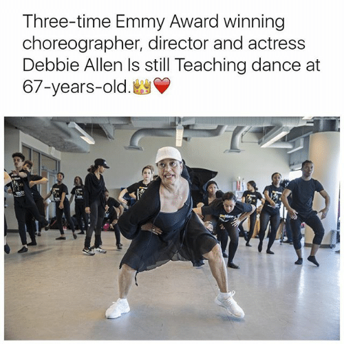 Memes, Time, and Old: Three-time Emmy Award winning  choreographer, director and actress  Debbie Allen Is still Teaching dance at  67-years-old