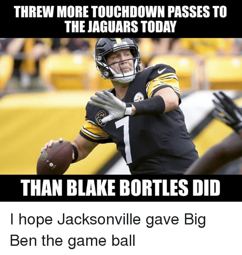 threw more touchdown passes to the jaguars today than blake 28200630 threw more touchdown passes to the jaguars today than blake bortles