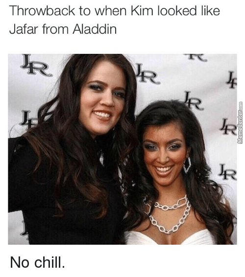 Aladdin, Chill, and Kardashian: Throwback to When Kim ooked like  Jafar from Aladdin No chill.