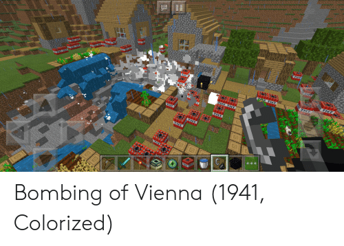 Vienna, Tht, and  Bombing: THT  THT Bombing of Vienna (1941, Colorized)