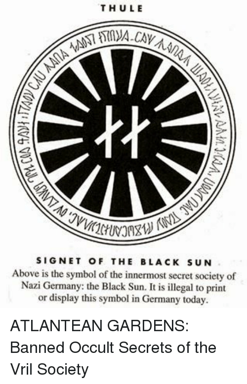 Thule Signet Of The Black Sun Above Is The Symbol Of The Innermost