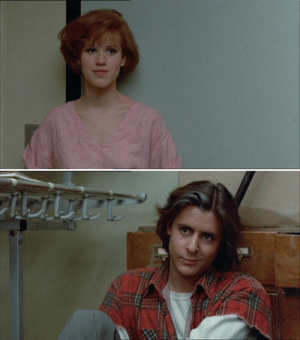 <3 Bender and Claire in The Breakfast Club (Judd Nelson and Molly Ringwald). My gosh, I love these two.: <3 Bender and Claire in The Breakfast Club (Judd Nelson and Molly Ringwald). My gosh, I love these two.