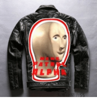 Internet, Memes, and Thank You: <blockquote><p>A leather jacket for an internet greaser hand of the modern times, bestowed upon you for making surreal home made memes.</p></blockquote><p>Thank you</p>