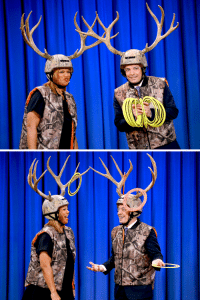 """<blockquote> <div><sub><span>Queen Latifah and Jimmy Fallon play a game of """"Antler Ring Toss"""" during a taping of 'Late Night with Jimmy Fallon' at Rockefeller Center on January 13, 2014 in New York City. [<a href=""""http://www.youtube.com/watch?v=7NGIjWn2lcU"""" target=""""_blank"""">x</a>]</span> </sub></div> </blockquote> <p></p>: <blockquote> <div><sub><span>Queen Latifah and Jimmy Fallon play a game of """"Antler Ring Toss"""" during a taping of 'Late Night with Jimmy Fallon' at Rockefeller Center on January 13, 2014 in New York City. [<a href=""""http://www.youtube.com/watch?v=7NGIjWn2lcU"""" target=""""_blank"""">x</a>]</span> </sub></div> </blockquote> <p></p>"""