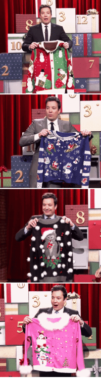 """Christmas, Gif, and Jimmy Fallon: <p><a class=""""tumblr_blog"""" href=""""http://cathytonight.tumblr.com/post/105285898352"""" target=""""_blank"""">cathytonight</a>:</p> <blockquote> <p><em>the tonight show: 12 days of christmas sweaters part 1</em></p> <p><em>(<a href=""""http://cathytonight.tumblr.com/tagged/best+edits"""" target=""""_blank"""">jimmy fallon edits</a>)</em></p> </blockquote> <p>It&rsquo;s been an awesome start to <a href=""""https://www.youtube.com/watch?v=MZChq0bT1_0"""" target=""""_blank"""">12 Day of Christmas Sweaters</a>!<img alt="""""""" src=""""https://78.media.tumblr.com/082f495f9f16ad7975e41fea9532d6c7/tumblr_ngnc0shZJ31qhub34o3_r1_500.gif""""/></p> <p><span>WE WANT YOU TO JOIN THE FUN! YOU COULD WIN A SWEATER!</span></p> <p>Tweet us a photo of yourself in your best (worst) holiday sweater with the hashtag<span><span>#12DaysOfChristmasSweatersContest</span></span>and mention<span>@FallonTonight</span>in the tweet to enter.</p> <p>We have 10 ugly holiday sweaters to give away and will choose winners between now and December 19th!</p> <p><a href=""""http://www.nbc.com/the-tonight-show/blogs/85391"""" target=""""_blank"""">Here's all the rules and regulations!</a>(Basically, you must be 18+ and live in the U.S. There is no purchase necessary.)</p> <p><strong>Let&rsquo;s see those ugly sweaters!</strong></p>"""