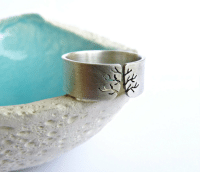 """Tumblr, Blog, and Http: <p><a class=""""tumblr_blog"""" href=""""http://kreagora.tumblr.com/post/117781920490"""">kreagora</a>:</p> <blockquote> <p>Autumn tree ring, Sterling silver ring, sanded wide band ring, metalwork jewelry </p> </blockquote>"""