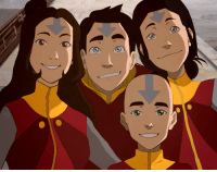 """<p><a class=""""tumblr_blog"""" href=""""http://mackydraws.tumblr.com/post/143519921369"""" target=""""_blank"""">mackydraws</a>:</p> <blockquote> <p>Snapshot of the airbender kids right after Rohan reveals his new tattoos! (Jinora 22, Ikki 19, Meelo 17, Rohan 12) <br/><br/>Love the idea of Meelo keeping his hair. &lt;3 <br/><br/>I imagine that <b>Jinora </b>is helping her father record knowledge from Wan Shi Tong's library into books stored in Air Temple libraries. She's still going steady with Kai, and every now and then they casually discuss marriage. Her dream is to compile vast libraries in the three remaining air temples and have these locations be hubs of literature, scientific knowledge, and spirituality free from political restraints.</p> <p>Meanwhile, <b>Ikki </b>is oblivious to the romantic advances of those around  her and usually prefers the company of spirits and animals anyway. She's  also experimenting with how airbending can be used to muffle or enhance  sound waves and voices. When she isn't helping her father and siblings train airbenders, she sings, sculpts, and paints. <br/></p> <p><b>Meelo </b>is extremely popular with the ladies, and he is at the age where he thinks more about fun and freedom than his responsibilities or future. Still, he has grown into a fine, bright young man, and he is considering with his Uncle Bumi the tactical advantages airbenders can bring to the United Forces. In a few years, he'll work with Bumi to establish an airbender reconnaissance and rescue team in the wake of an Earth Kingdom civil war. <br/><br/>As for <b>Rohan</b>, he has grown up to be a sweet and intelligent boy. Like his oldest sister, Jinora, Rohan is exceptionally attuned to spiritual energy. He hasn't managed to project his spirit yet, but he has entered the spirit world through meditation a few times already. He's a little quiet, but quickly warms up to people and reveals his mischievous side. He enjoys drawing with Ikki, sparring with Meelo, and discussing history and"""