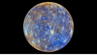 """Nasa, Tumblr, and Blog: <p><a class=""""tumblr_blog"""" href=""""http://pictures-of-space.tumblr.com/post/145681142231"""">pictures-of-space</a>:</p> <blockquote> <h2>  False Color View of Mercury</h2> <p>This colorful view of Mercury was produced by using images from the color base map imaging campaign during MESSENGER's primary mission. These colors are not what Mercury would look like to the human eye, but rather the colors enhance the chemical, mineralogical, and physical differences between the rocks that make up Mercury's surface.</p> <p>  Credit: NASA/Johns Hopkins University Applied Physics Laboratory/Carnegie Institution of Washington  <br/></p> </blockquote>"""
