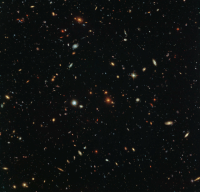 """<p><a class=""""tumblr_blog"""" href=""""http://pictures-of-space.tumblr.com/post/146356665382"""">pictures-of-space</a>:</p> <blockquote> <h2>  Hubble Sees a Legion of Galaxies</h2> <p>Peering deep into the early universe, this picturesque parallel field observation from the NASA/ESA Hubble Space Telescope reveals thousands of colorful galaxies swimming in the inky blackness of space. A few foreground stars from our own galaxy, the Milky Way, are also visible.</p> </blockquote>: <p><a class=""""tumblr_blog"""" href=""""http://pictures-of-space.tumblr.com/post/146356665382"""">pictures-of-space</a>:</p> <blockquote> <h2>  Hubble Sees a Legion of Galaxies</h2> <p>Peering deep into the early universe, this picturesque parallel field observation from the NASA/ESA Hubble Space Telescope reveals thousands of colorful galaxies swimming in the inky blackness of space. A few foreground stars from our own galaxy, the Milky Way, are also visible.</p> </blockquote>"""
