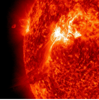 """Fall, Nasa, and Tumblr: <p><a class=""""tumblr_blog"""" href=""""http://pictures-of-space.tumblr.com/post/146380512707"""">pictures-of-space</a>:</p> <blockquote> <h2>  Spewing Flare Event</h2> <p>The Sun popped off an M-Class (moderate level) flare on Sept. 25, 2011 that sent a plume of plasma out above the Sun, but a good portion of it appeared to fall back towards the active region that launched it. The activity in the video clip (here:<a href=""""http://sdo.gsfc.nasa.gov/gallery/potw.php?v=item&amp;id=69"""">sdo.gsfc.nasa.gov/gallery/potw.php?v=item&amp;id=69</a> ), seen in extreme ultraviolet light, covers just 3 hours. With an image every minute, every nuance of graceful motion can be observed in wonderful detail. The bright flash shows the flare itself erupting. Since this event, this active region has been the source of several large flares and many lesser ones that have caused geo-effective storms on Earth as it has rotated around towards facing us.</p> <p>Credit: NASA/SDO</p> <p><a href=""""http://star-gazing.net/"""">Visit our webpage here</a></p> </blockquote>"""