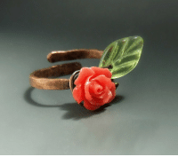 "Tumblr, Blog, and Http: <p><a class=""tumblr_blog"" href=""http://veranasfa.tumblr.com/post/136972353590"">veranasfa</a>:</p> <blockquote> <p>Romantic rose ring with green leaf, copper rustic jewelry, botanical garden inspired jewelry, VeraNasfaJewelry </p> </blockquote>"
