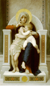 """<p><a href=""""http://by-grace-of-god.tumblr.com/post/162200646905/the-virgin-the-baby-jesus-and-saint-john-the"""" class=""""tumblr_blog"""">by-grace-of-god</a>:</p>  <blockquote><p>The Virgin, the Baby Jesus and Saint John the Baptist– William Adolphe Bouguereau</p></blockquote>  <p>This is so sweet 😊 I love art that accentuates the more human aspects of the Saints. Just a couple lil baby cousins playing on Mary&rsquo;s lap.</p>: <p><a href=""""http://by-grace-of-god.tumblr.com/post/162200646905/the-virgin-the-baby-jesus-and-saint-john-the"""" class=""""tumblr_blog"""">by-grace-of-god</a>:</p>  <blockquote><p>The Virgin, the Baby Jesus and Saint John the Baptist– William Adolphe Bouguereau</p></blockquote>  <p>This is so sweet 😊 I love art that accentuates the more human aspects of the Saints. Just a couple lil baby cousins playing on Mary&rsquo;s lap.</p>"""