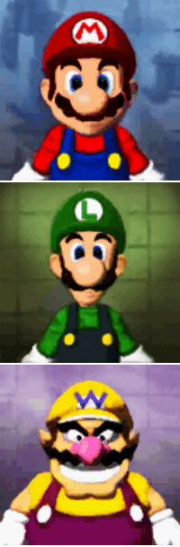 """Paintings, Super Mario, and Tumblr: <p><a href=""""http://guilty-until-proven-medusa.tumblr.com/post/162013686529/suppermariobroth-the-paintings-inside-which"""" class=""""tumblr_blog"""">guilty-until-proven-medusa</a>:</p><blockquote> <p><a href=""""http://www.suppermariobroth.com/post/162011728205/the-paintings-inside-which-mario-luigi-and-wario"""" class=""""tumblr_blog"""">suppermariobroth</a>:</p>  <blockquote><p>The paintings inside which Mario, Luigi and Wario are held captive, from Super Mario 64 DS.<br/></p></blockquote>  <p>The fact that this is in the present tense is disconcerting.</p> </blockquote>"""