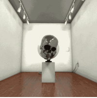 """Tumblr, Wikipedia, and Blog: <p><a href=""""http://sixpenceee.com/post/113917546639/moving-skull-illusion-it-seems-this-was-crafted"""" class=""""tumblr_blog"""">sixpenceee</a>:</p><blockquote><p><b>Moving Skull Illusion</b>.It seems this was crafted by <a href=""""http://bigblueboo.tumblr.com/post/110543141277/end-perspectives"""">bigblueboo</a>.Holbein did it first, in his painting <a href=""""http://en.wikipedia.org/wiki/The_Ambassadors_%28Holbein%29#Anamorphic_skull"""">The Ambassadors</a>&amp; Robert Lazzarini then made it 3-D. <a href=""""http://www.robertlazzarini.com/skulls/"""">Rober Lazzarini Skulls</a>.</p></blockquote><p>Lo mires como lo mires es horriblemente curioso.</p>"""