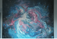 "Tumblr, Blog, and Canvas: <p><a href=""http://space-pics.tumblr.com/post/172491324514/orion-nebula-oil-on-canvas-by-kat-fletcher"" class=""tumblr_blog"">space-pics</a>:</p>  <blockquote><p>Orion Nebula, oil on canvas by Kat Fletcher [OC][3392x2304]</p></blockquote>"