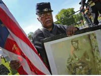 """Tumblr, Lost, and American: <p><a href=""""http://thecivilwarparlor.tumblr.com/post/130617402545/spirit-of-freedom-an-african-american-civil-war"""" class=""""tumblr_blog"""">thecivilwarparlor</a>:</p>  <blockquote><h2>  Spirit of Freedom an African-American Civil War Soldier Celebration  </h2><p>  Andrew Bowman stands with an American flag and a portrait of his grandfather, Andrew Jackson Smith of the 55th Massachusetts Volunteer Colored Infantry, as Bowman portrays Smith, at the Spirit of Freedom, the 18th Annual African-American Civil War Soldier Celebration at Crown Hill Cemetery, Thursday, June 5, 2014. Kelly Wilkinson/The Star  <br/></p><p>Regiment lost during service 3 Officers and 64 Enlisted men killed and mortally wounded and 2 Officers and 128 Enlisted men by disease. Total 197.  </p></blockquote>"""