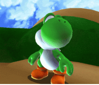 """Being Alone, Super Mario, and The Game: <p><a href=""""http://www.suppermariobroth.com/post/147190108875/whenever-yoshi-is-left-alone-in-super-mario-galaxy"""" class=""""tumblr_blog"""">suppermariobroth</a>:</p><blockquote><p>Whenever Yoshi is left alone in Super Mario Galaxy 2, he will vibrate slightly. Since he oscillates about 30 times per second and the movement is minuscule, this is hard to see when playing the game on a console. Here it is zoomed in and slowed down.<br/></p></blockquote>"""