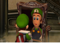 "The Game, Tumblr, and Blog: <p><a href=""http://www.suppermariobroth.com/post/157572627720/in-luigis-mansion-if-luigi-gets-closer-to-a"" class=""tumblr_blog"">suppermariobroth</a>:</p> <blockquote><p>In Luigi's Mansion, If Luigi gets closer to a mirror than intended by the game (through the use of glitches or cheats), the mirror will not display parts of Luigi's model.</p></blockquote>"