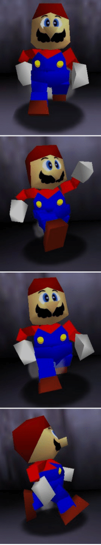 """Minecraft, Super Mario, and Tumblr: <p><a href=""""http://www.suppermariobroth.com/post/163335189980/the-low-polygon-model-of-hatless-mario-in-super"""" class=""""tumblr_blog"""">suppermariobroth</a>:</p><blockquote><p>The low-polygon model of Hatless Mario in Super Mario 64, viewed from multiple angles.<br/></p></blockquote> <p>my favorite minecraft mod</p>"""