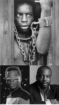 """<p><a href=""""https://blackhistoryalbum.tumblr.com/post/159837957925/levar-burton-from-roots-reading-rainbow-to-star"""" class=""""tumblr_blog"""">blackhistoryalbum</a>:</p><blockquote> <p><b>LEVAR BURTON : FROM ROOTS, READING RAINBOW TO STAR TREK</b><br/><br/>LeVar Burton (born 1957) is an American actor and director best known for his roles as Lt. Commander Geordi La Forge in Star Trek: The Next Generation (1987) and the young Kunta Kinte in the 1977 award-winning ABC television miniseries Roots [ <a href=""""http://www.levarburton.com/"""">http://www.levarburton.com ]</a>. <br/></p> <p>Burton was also the host and producer of the PBS children's series Reading Rainbow (1983). It ran for 23 seasons, making it one of the longest running children's programs on the network. The program won a Peabody Award and 23 Emmy Awards. Burton himself won 12 Emmy Awards for the series alone.<i><i><br/></i></i></p> <p><i>[Black History Album on Tumblr: Our 2,000th Post!]</i></p> <p><i><i>Black History Album: The</i> Way We Were. <i>100 Years of African American Vintage  <i>Photography from the end of slavery in the 1860′s to the Black Power Movement of the 1960s and beyond.</i>   <b><a href=""""http://t.umblr.com/redirect?z=https%3A%2F%2Fwww.pinterest.com%2Fblackheritage%2Fpins%2F&amp;t=MWY1MWFhMTliYTI4MjI2ODNhNWM3ZjhjYmU5ODhiN2FmN2ZmODAzNyxCNkhnclFwbg%3D%3D"""">Pinteres</a></b>t 