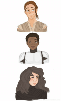 """Lol, Rey, and Tumblr: <p><a href=""""https://lovelylilbookworm.tumblr.com/post/144015115869/decided-to-genderbent-them-rey-stays-the-same"""" class=""""tumblr_blog"""">lovelylilbookworm</a>:</p>  <blockquote><p>Decided to genderbent them ♥<br/> Rey (stays the same lol)<br/> Finoa ( FNA-2187)<br/> Breha Solo (named after Leia's adoptive mother)</p></blockquote>"""