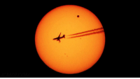 """Tumblr, Blog, and Space: <p><a href=""""https://photos-of-space.tumblr.com/post/170730607631/aircraft-photobombs-the-transition-of-venus"""" class=""""tumblr_blog"""">photos-of-space</a>:</p>  <blockquote><p>Aircraft photobombs the transition of Venus</p></blockquote>"""