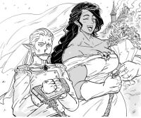 """<p><a href=""""https://theartistknownasbb.tumblr.com/post/174059626862/patron-request-for-male-elf-marrying-a-female-orc"""" class=""""tumblr_blog"""" target=""""_blank"""">theartistknownasbb</a>:</p>  <blockquote><p>Patron request for male elf marrying a female orc.</p><p>A strong Orc woman does not wait for prince charming to appear; she rides out and takes what is rightfully hers, with blood and steel.</p><p>data.tumblr.com/97876dab7bc431722a567c5d3400ad20/tumblr_p8zuidVixK1w4olv0o1_r1_raw.png</p></blockquote>: <p><a href=""""https://theartistknownasbb.tumblr.com/post/174059626862/patron-request-for-male-elf-marrying-a-female-orc"""" class=""""tumblr_blog"""" target=""""_blank"""">theartistknownasbb</a>:</p>  <blockquote><p>Patron request for male elf marrying a female orc.</p><p>A strong Orc woman does not wait for prince charming to appear; she rides out and takes what is rightfully hers, with blood and steel.</p><p>data.tumblr.com/97876dab7bc431722a567c5d3400ad20/tumblr_p8zuidVixK1w4olv0o1_r1_raw.png</p></blockquote>"""