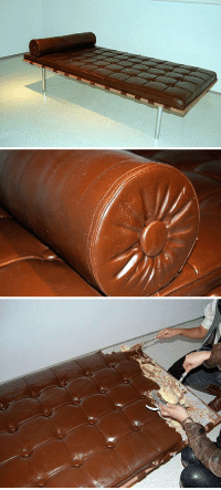 """Target, Chocolate, and Couch: <p><strong>Chocolate therapy</strong>.Created by Argentinian artist <a target=""""_blank"""" href=""""http://www.leandroerlich.com.ar/"""">Leandro Erlich</a>.<br/><a target=""""_blank"""" href=""""http://www.odditycentral.com/pics/delicious-looking-edible-chocolate-couch.html"""">via</a></p>"""