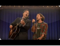 Strong, Eddie Vedder, and Swimming: <p><strong>Pearl Jam Week Throwback: &ldquo;Balls In Your Mouth&rdquo; with Eddie Vedder</strong></p> <p>Eddie Vedder&rsquo;s on the show tonight to play with Pearl Jam. Last year he and Jimmy came together to deliver an important message about swimming in polluted oceans. </p>