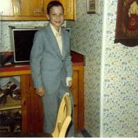 <p>#TBH Throwback Halloween. Me as Pee Wee. (Notice the bandaged finger. Some things never change.) - Jimmy</p>: <p>#TBH Throwback Halloween. Me as Pee Wee. (Notice the bandaged finger. Some things never change.) - Jimmy</p>