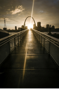 <p>A Picture I Took Of The Setting Sun, The Gateway Arch, And A Ramp At A Park All Lined Up Sunday Night.</p>: <p>A Picture I Took Of The Setting Sun, The Gateway Arch, And A Ramp At A Park All Lined Up Sunday Night.</p>