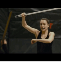 Fight, Daisy, and Adam: <p>Adam and Daisy practicing their fight choreography for the throne room scene</p>