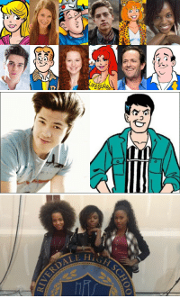 <p>And here are some of the casting choices for the Riverdale series. Those girls on the bottom are the new Josie and the Pussycats because of course they are. Also, Reggie is Asian now. And Jughead is one of the Sprouse twins. </p>: <p>And here are some of the casting choices for the Riverdale series. Those girls on the bottom are the new Josie and the Pussycats because of course they are. Also, Reggie is Asian now. And Jughead is one of the Sprouse twins. </p>