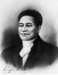 Black History Month, Native American, and American: <p>Black history month day 10: Crispus Attucks.</p>  <p>Crispus Attucks was the first American casualty of the Revolutionary War, specifically the Boston massacre. He is believed to be of African and Native American decent. He was a dockworker and there is some historical debate on whether he was a free man or a runaway slave. He became a martyr in the anti-slavery movement during the 1800s, hailed as an example of bravery and strength.</p>  <p>Attucks was buried with the others killed in the Boston massacre, and his grave remains to this day.</p>