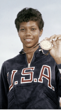 Anaconda, Bailey Jay, and Basketball: <p>Black history month day 26: Olympian Wilma Rudolph.</p>  <p>Wilma Glodean Rudolph was born prematurely at 4.5 pounds on June 23, 1940 in Saint Bethlehem, Tennessee. She was the 20th of 22 children. Rudolph suffered from infant paralysis as a result of the polio virus. She recovered, but had to wear a brace on her twisted left leg and foot until she was nine. She was required to wear an orthopedic shoe for support of her foot for another two years. For treatment of her twisted leg and frequent bouts of polio and scarlet fever, Rudolph spent much of her childhood in and out of hospitals.</p>  <p>Rudolph played basketball like her sister until her skills in running caught the attention of Tennessee State track and field coach Ed Temple. Under his training, she qualified for the US Olympic track team for the 1956 Melbourne Olympics when she was just 16 years old. She won a bronze medal in the 4 × 100 m relay. Four years later in the Rome Olympics, she won three gold medals in the 100 m, 200 m and 4 × 100 m relay. Her biggest inspiration was fellow black Olympian Jesse Owens, who had dominated in the 1936 Berlin Olympics.</p>  <p>Rudolph died of cancer at age 54 on November 12, 1994. She left behind four children and eight grandchildren. One of the dormitories at Tennessee State University was named in her honor.</p>