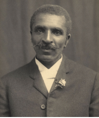 Black History Month, Children, and College: <p>Black history month Day 7: American botanist and inventor George Washington Carver.</p>  <p>George Washington Carver was born a slave sometime in the 1860s, his exact date of birth is unknown. His master was Moses Carver, a German immigrant who had purchased George's parents for $700. When George was only a week old, he, a sister, and his mother were kidnapped by night raiders from Arkansas to be sold in Kentucky. Moses Carver hired someone to retrieve them but he was only able to save baby George and his older brother James, who had been saved from the kidnapping.</p>  <p>After slavery was abolished, Moses and his wife basically adopted George and his brother James and raised them as their own, encouraging George's intellectual pursuits and teaching him to read and write. Since black children were not allowed to be educated in the local school, George traveled to the school for black children 10 miles south and rented a room in that area to continue his education. He was determined to learn all he could in order to give back to people.</p>  <p>George was originally accepted at Highland College in Kansas, but was turned away once they discovered his race. Undeterred, George homesteaded some land where he started a small conservatory of plants, manually plowed over 16 acres of land, and worked as a ranch hand and other odd jobs. Eventually he received a $300 loan for his education, and begin studying art and piano at Simpson College. When his teacher noticed how skilled he was at painting plants, she urged him to pursue botany and he was accepted to Iowa State Agricultural College as their first black student. Eventually he took it one step further and became Iowa State's first black faculty member after earning his masters.</p>  <p>Carver focused his efforts on developing alternative crops to cotton, hoping to better the lives and livelihood of poor farmers. He taught people how to grow things like sweet potatoes and pe